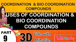 Uses of coordinaation and bio coordination compounds class 12 chemistry subject notes lectures cbse