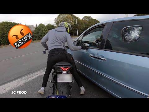 IL DÉFONCE SON RÉTROVISEUR 🤬! (Road Rage En MT07 !)