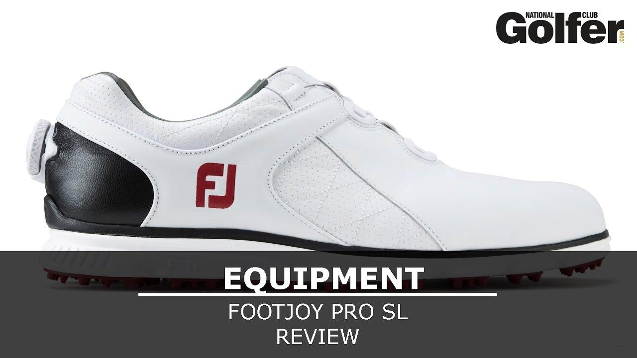 419346ba6576e9 FootJoy Pro SL golf shoe review - YouTube