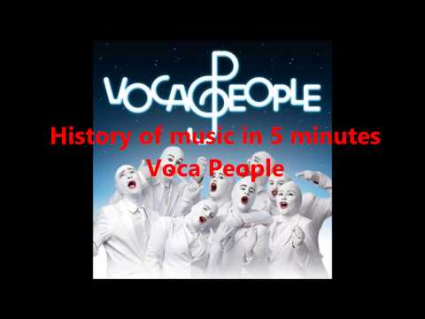 History of music in 5 minutes (a cappella, Voca People)