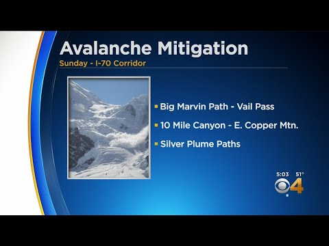 Avalanche Mitigation Work Planned For Sunday Along I-70