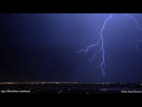 Electrical storm lights up Cape Town sky