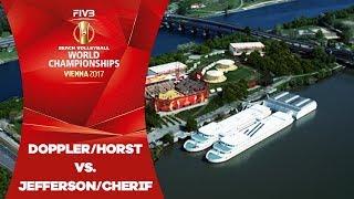 Doppler/Horst (AUT) v Jefferson/Cherif (QAT) - FIVB Beach Volley World Champs