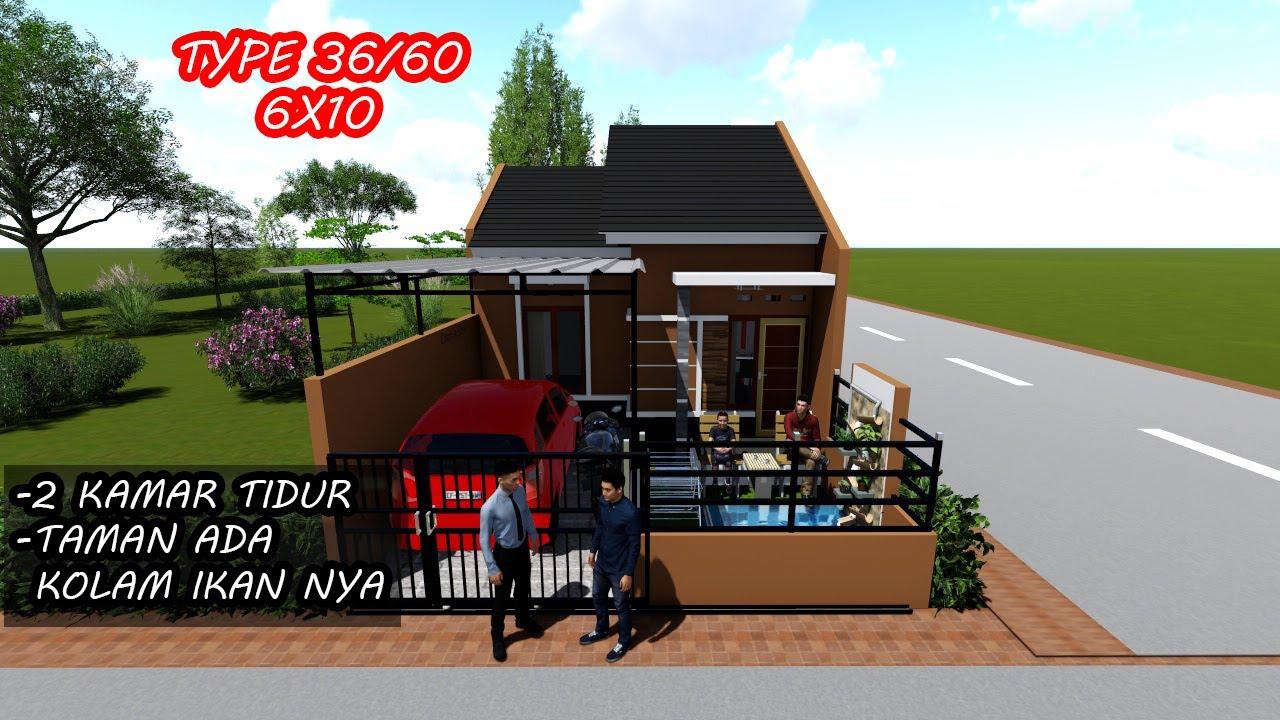Desain Renovasi Rumah KPR subsidi Type 36/60 Terbaru - YouTube