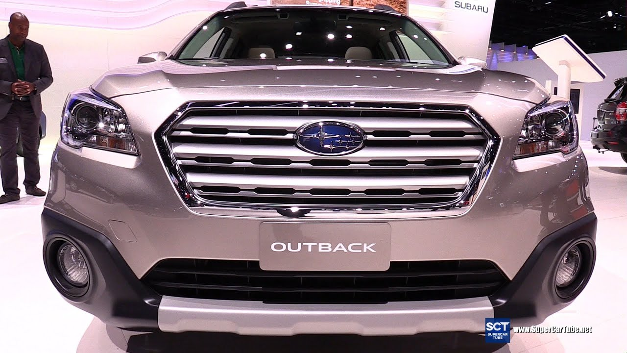 subaru outback interior 2016. 2016 subaru outback 36r awd exterior and interior walkaround 2015 la auto show youtube o