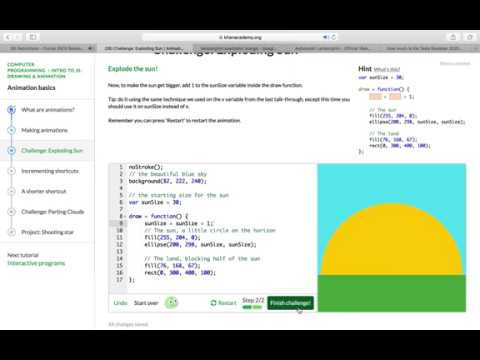 Khan Academy Exploding sun Animation