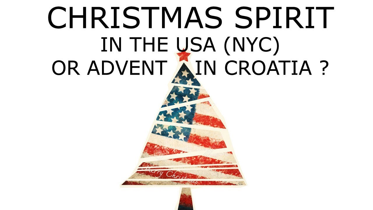 Christmas spirit in the USA (NYC) or Advent in Zagreb, Croatia ...
