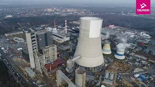 Zobacz jak wygląda chłodnia kominowa nowego bloku 910MW budowanego w Elektrowni Jaworzno