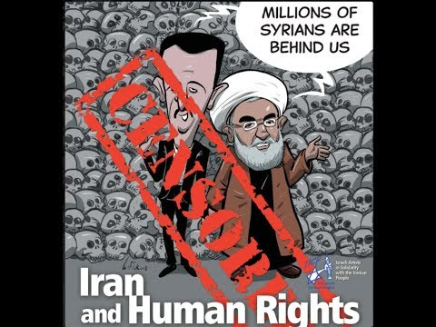 """Opening of Cartoon Exhibition """"Iran and Human Rights"""" with MK Yair Lapid"""