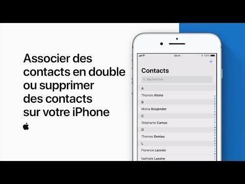 Associer des contacts en double ou supprimer des contacts sur votre iPhone — Assistance Apple