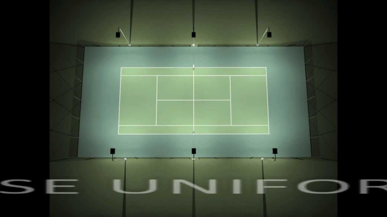 RLLD CXL Series Tennis Court Lighting Promo YouTube