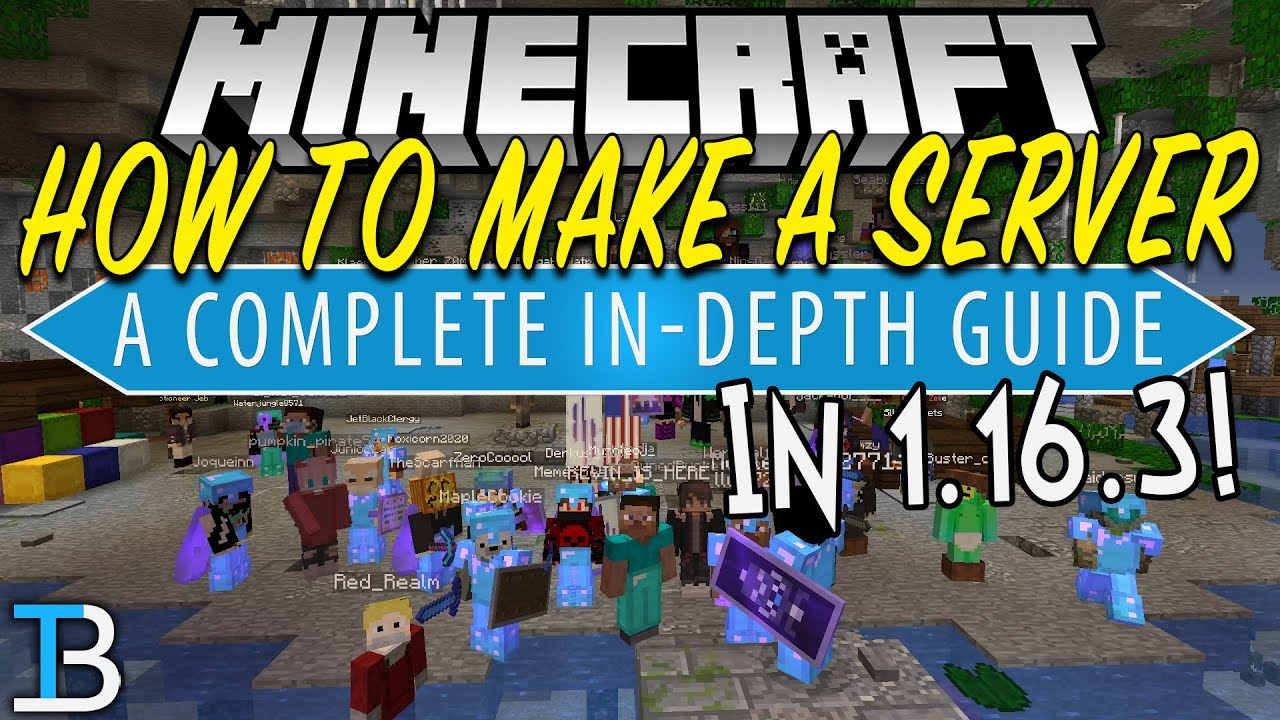 How To Make A Minecraft Server in 1.16.3 (Create Your Own Minecraft Server!)