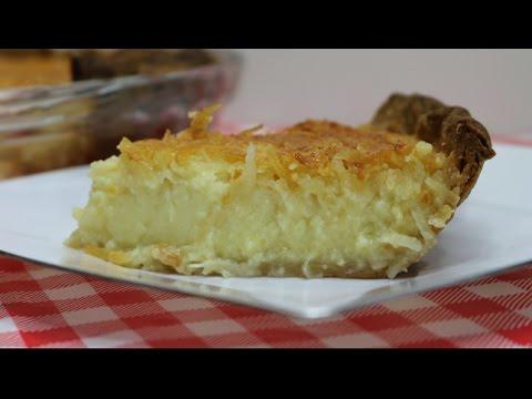 Triple Coconut Custard Pie ~ Coconut Custard Pie Recipe ~ Torani Pie Day ~ Noreen's Kitchen