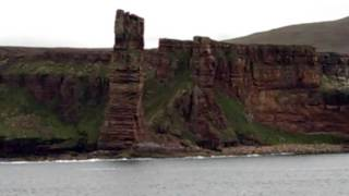 Novel Adventures Northlink Ferry to Orkney, Scotland-passing the Old Man of Hoy