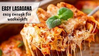 The Easiest Homemade Lasagna Recipe