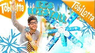 Fenster Deko DIY   FROZEN EISKRISTALL  DIY    Winter basteln   Kinderkanal Tobilotta 138