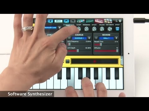 Yamaha Synthesizer Arpeggiator & Drum Pad - Overview - iPad App