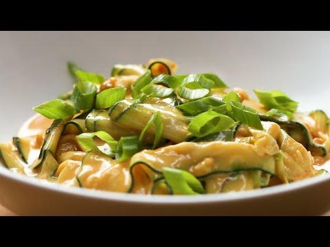 Savory 5-Ingredient Peanut Zucchini Noodles • Tasty
