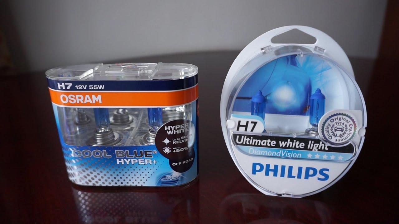 Osram Cool Blue Hyper 5000k Vs Philips Diamondvision