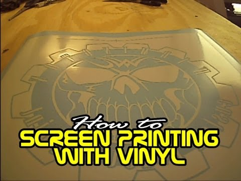 How To Screen Printing With Vinyl Youtube