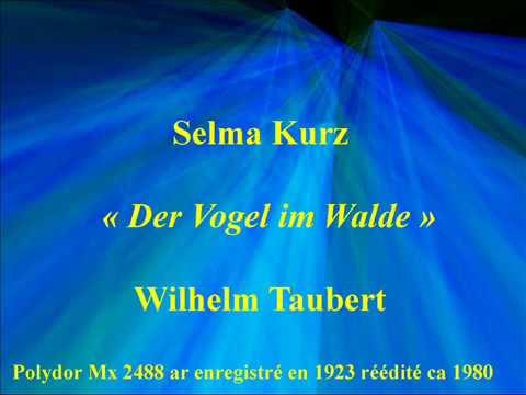 Selma KurzDer Vogel im WaldeWilhelm TaubertPolydor Mx 2488 ar enregistré en 1923 réédité