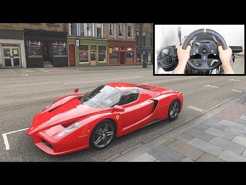Forza Horizon 4 Ferrari Enzo (Steering Wheel + Paddle Shifter) Gameplay
