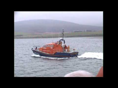 RNLI Stromness and Longhope lifeboats on joint exercise