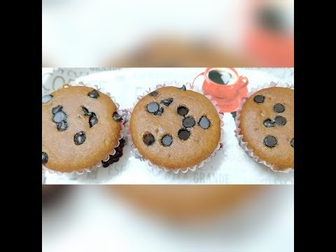 Eggless Whole wheat flour  jaggery muffins/ atta  gud se bane muffins/whole wheat Choco chip muffins