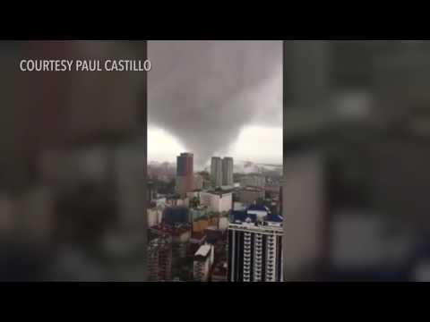 View of tornado from Tondo, Manila