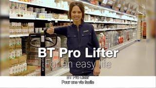 67% d'effort en moins avec le transpalette manuel BT Pro Lifter
