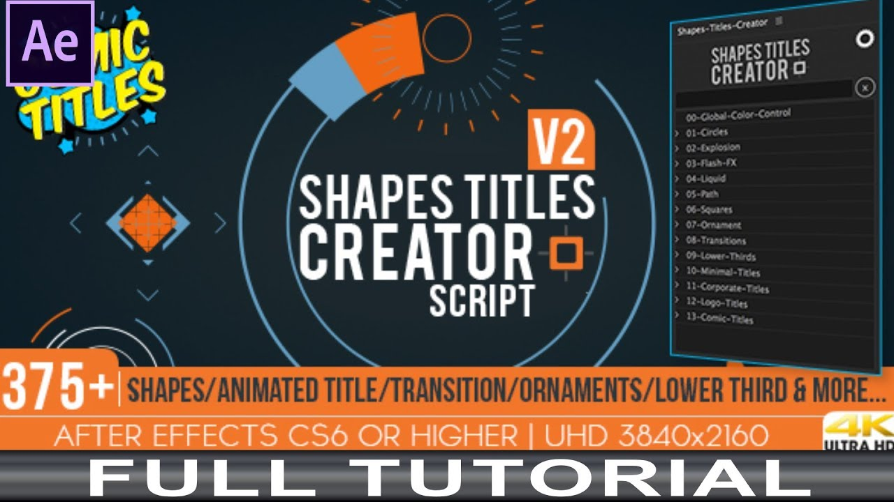 Shapes Titles Creator V2 Full Tutorial