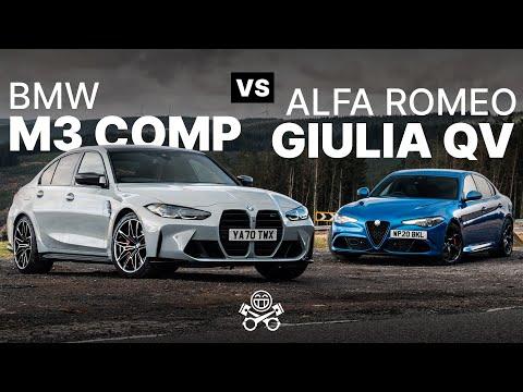 2021 BMW M3 Competition (G80) vs. Alfa Romeo Giulia Quadrifoglio | PistonHeads