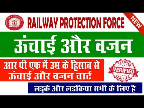 Rpf Height And Weight Chart In Hindi Railway Protection Force