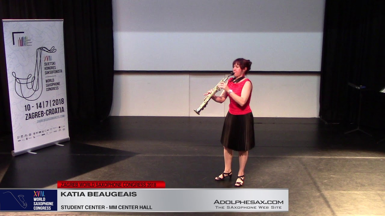 Breath by breath by Katia Beaugeais   Katia Beaugeais   XVIII World Sax Congress 2018 #adolphesax