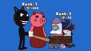 BRAWL STARS ANIMATION - Siren Head, Piggy, Cartoon Cat vs RICO