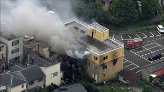 At least 33 killed, dozens injured after man sets fire to Japanese animation studio thumbnail