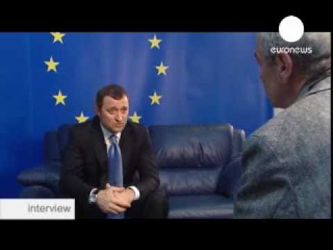 Премьер Молдавии Влад Филат. Vlad Filat   news, interview,  euronews