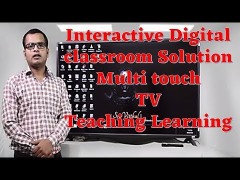 Interactive Digital classroom Solution | Multi touch TV Teaching Learning