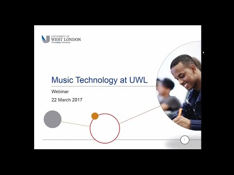 Webinar: Studying Music Technology at the University of West London