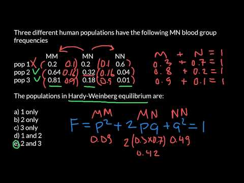 How to find if population in Hardy-Weinberg equilibrium?