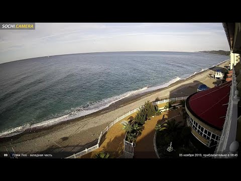 Сочи, пляж «Маяк», западная часть, реальная съемка,
