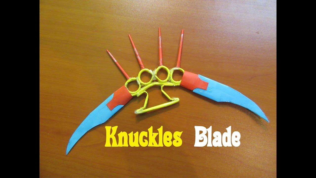 Hoe Maak Je Een Papier Te Maken Knokkels Blade Wapen
