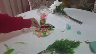 Como realizar un taza de te en cascada con flores