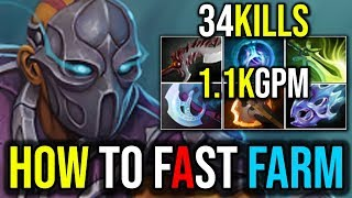 [Anti Mage] How to  Farm (1.1kGPM 34kills) SUPER RAMPAGE IN FOUNTAIN by Wagamama | Dota 2 FullGame