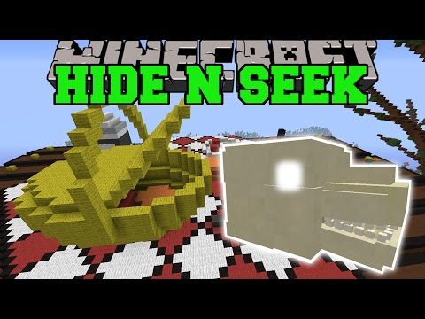 Minecraft: HIDE THE GODZILLA SKULL - HIDE AND SEEK - Modded Mini-Game