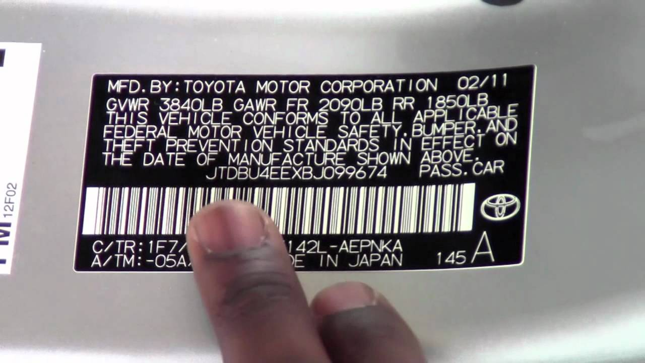 2011 toyota corolla tire and vin stickers how to by toyota city minneapolis mn youtube