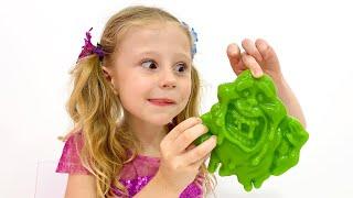 Nastya turns unhealthy food into jelly