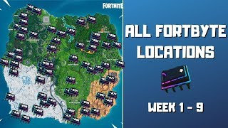 All Fortbyte Locations (week 1-9)! Every Hidden Fortbyte in Fortnite! - Fortbyte Challenges Season 9