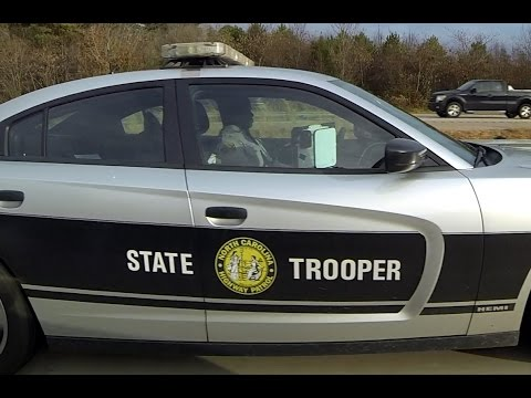 North Carolina State Highway Patrol Trooper Speeding C-451 Speeding Cops