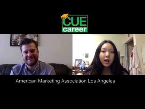 Lani LMU Freshman Intern interviews member of American Marketing Association LA